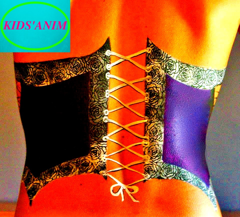 Body-paint corset