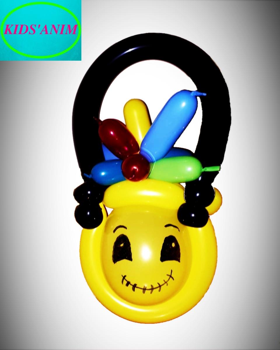 sac à bonbons d'halloween en ballons sculptés