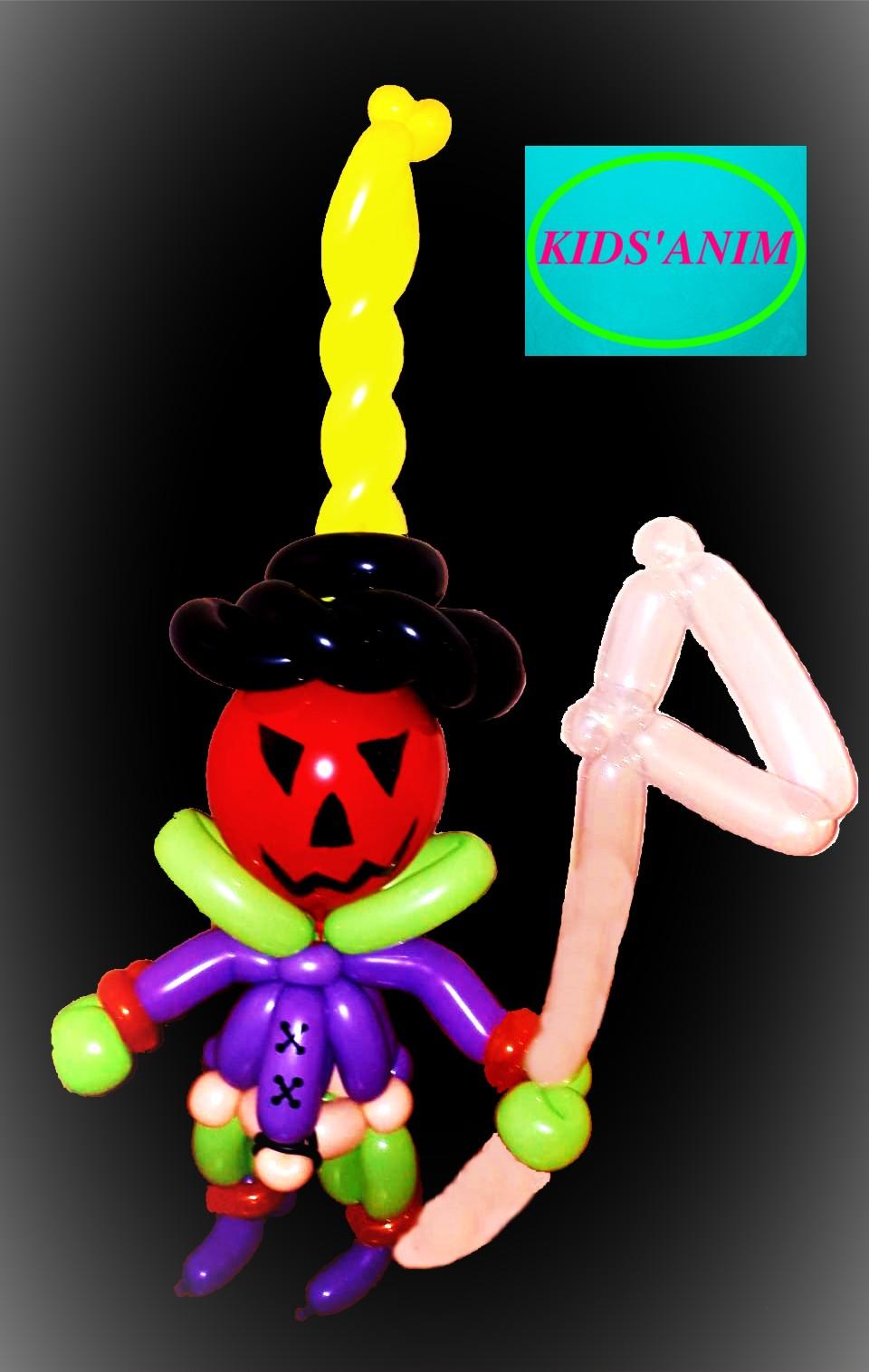 """décor en ballons """"Halloween"""" taille 70cm"""
