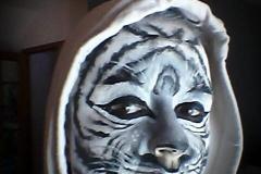 maquillage tigre blanc