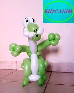 Sculpture sur ballon Dinosaure