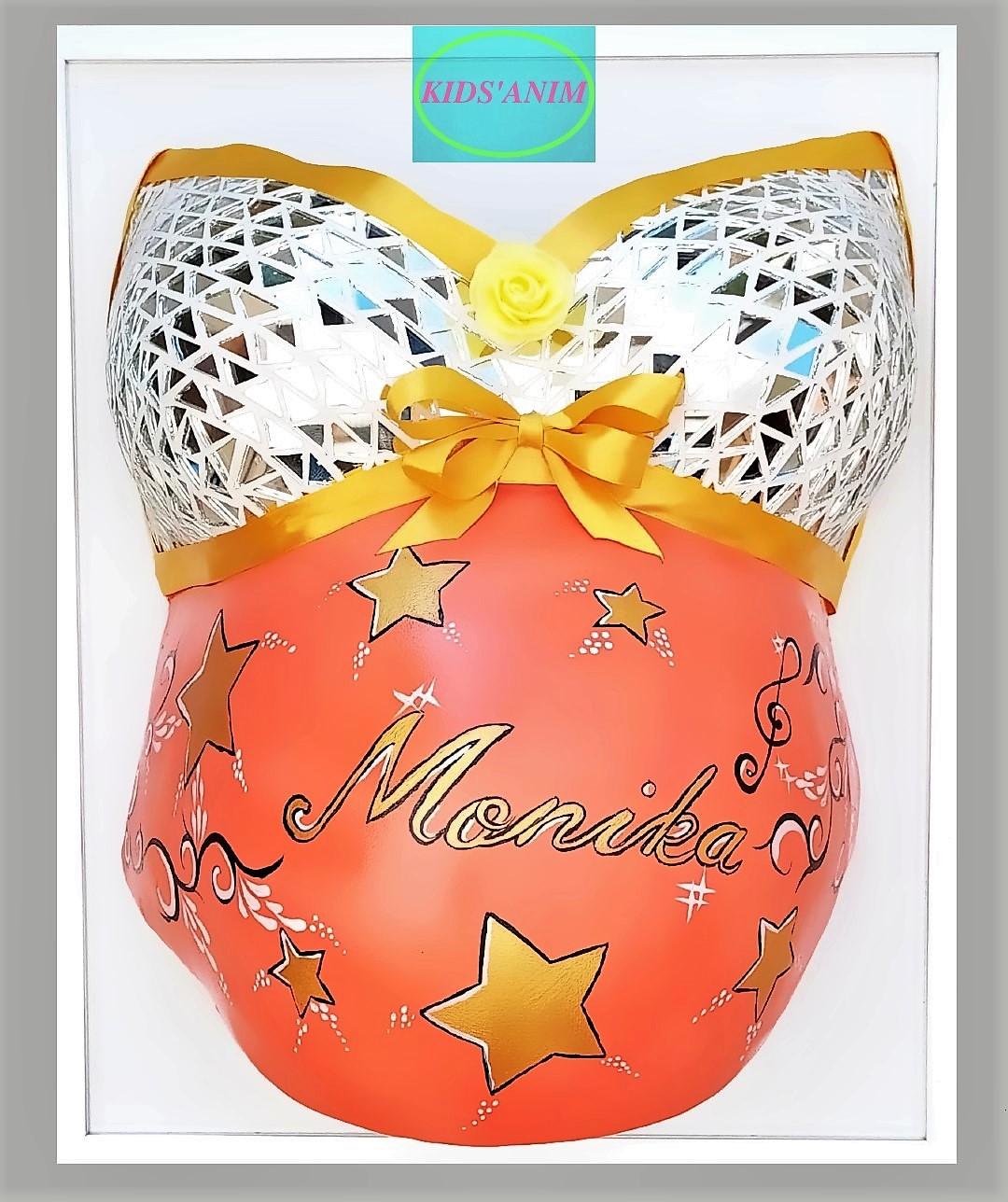Moulage de grossesse mosaïque personnalisé par Kids'Anim