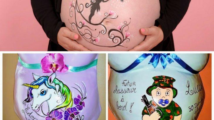 belly painting et moulage de grossesse